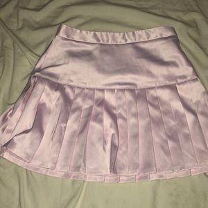 Baby pink tennis style skirt